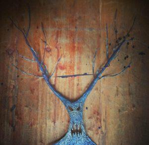 木のアイアンオブジェ