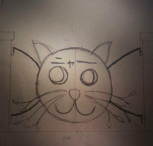 ロートアイアン門扉(猫デザイン)