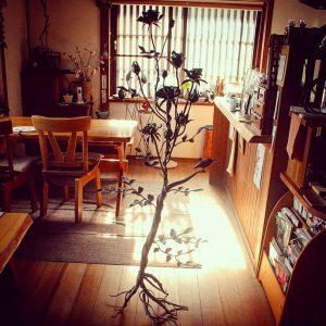 木と鳥のアイアンオブジェ