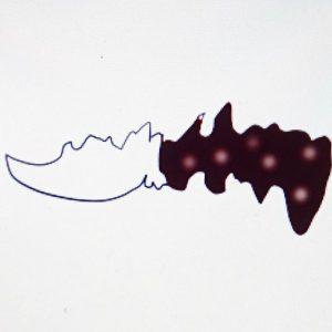 カスタムナイフのデザイン画