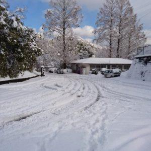 内子町大雪の道路